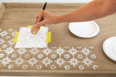 DIY Stenciled Coffee Table