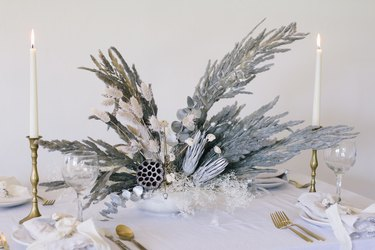 Sparkly Pampas Grass Centerpiece