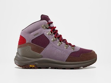 Merrell's Ontario 85 X See America Hiking Boots in vermillion cliffs