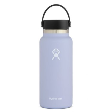 hydroflask wide mouth 32 oz bottle in fog color