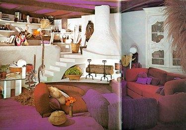 vintage living room space