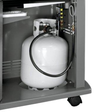Gas grill propane supply.