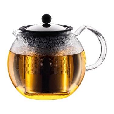 Glass tea press