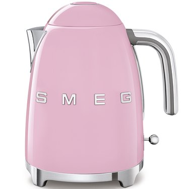 pink electric tea kettle