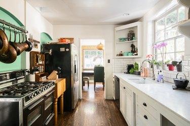 Kitchen in Kawalek and Navarro's home