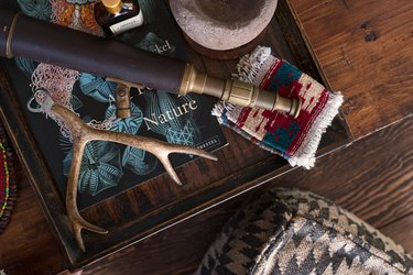 Bohemian vignette with deer antler and other pieces