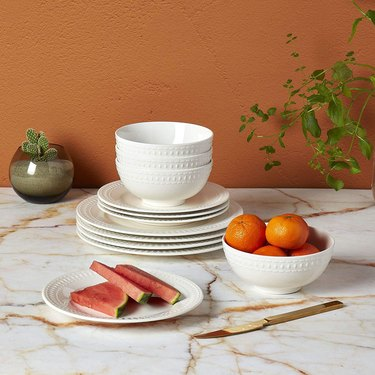 Tabletops Gallery Embossed Dinnerware Collection