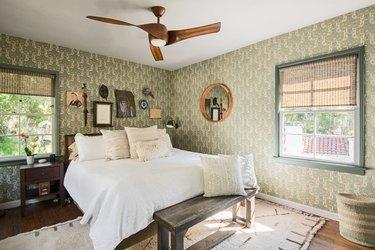 Master bedroom in Kawalek and Navarro's home
