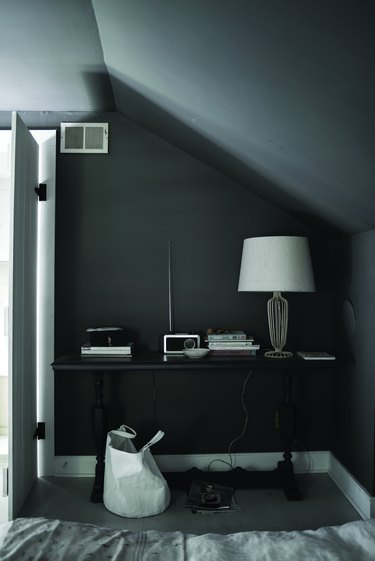 tone on tone gray walls and ceiling