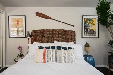 Guest bedroom in Kawalek and Navarro's home