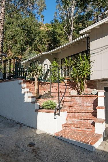 Stairs leading to Kawalek and Navarro's home