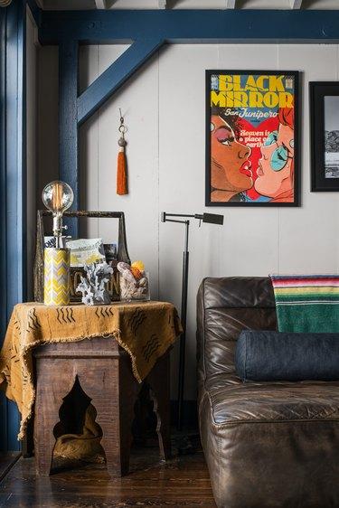 Vintage decorative items in Kawalek and Navarro's home