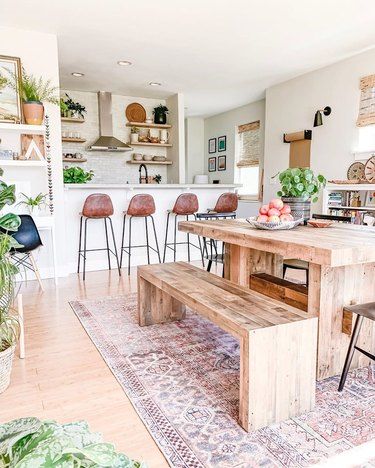 bright and breezy dining room
