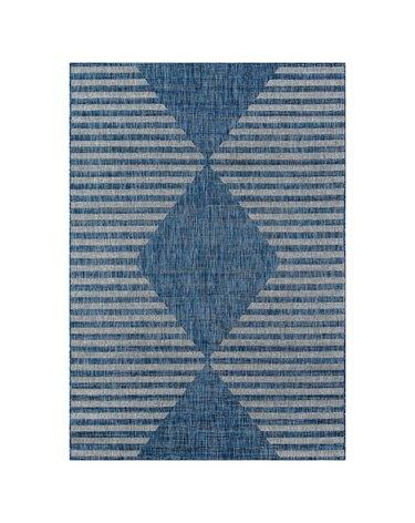 Blue Diamond Stripe Rug