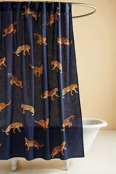 Anthropologie Leopard Shower Curtain, $88