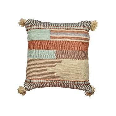 Boho outdoor throw pillow