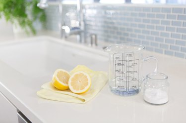 Clean a smelly drain with lemons.