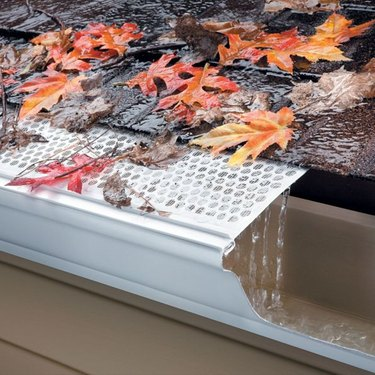gutter with screen.