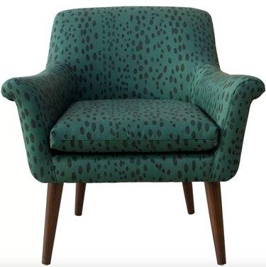 Cloth & Co Modern Armchair in Linen Leopard, $559.99