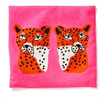 Aelfie Twinning Cheetahs Pillow Cover, $75