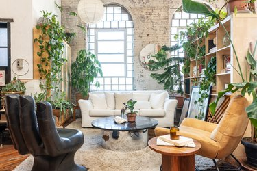 Loft apartment with plants