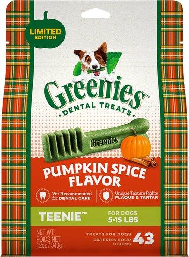 Greenies Pumpkin Spice Dental Dog Treats