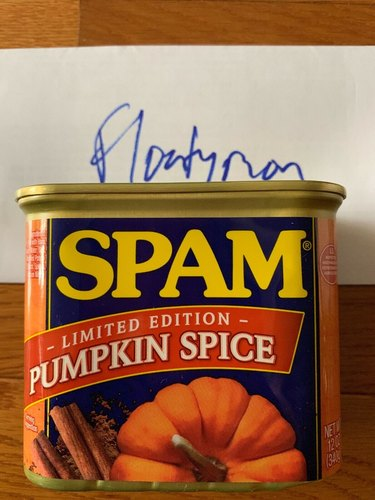 Pumpkin Spice Spam on eBay