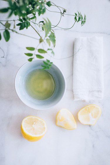 Polish Off Scuffs with lemon juice and olive oil