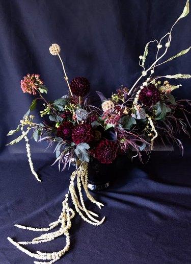 Gothic-style floral arrangement