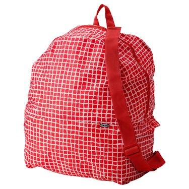 red ikea backpack