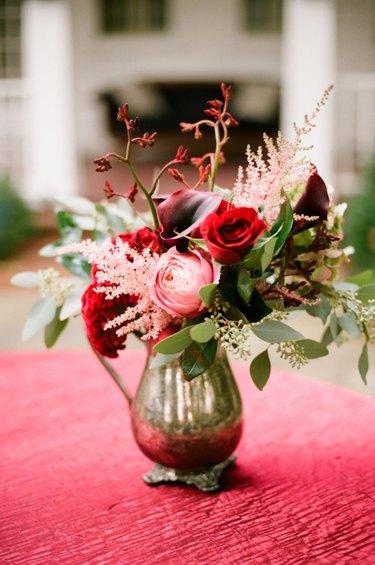 fresh flowers in a vintage vase