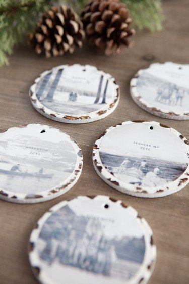 DIY holiday ornaments with photos