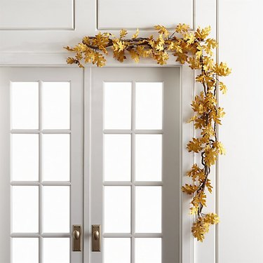 fall inspired leaf garland for front door