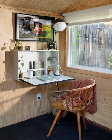 drop leaf wall mounted desk