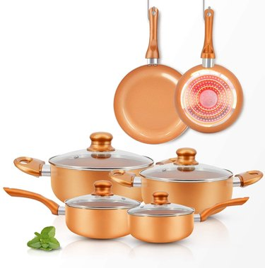 ceramic pots and pans set from fruiteam
