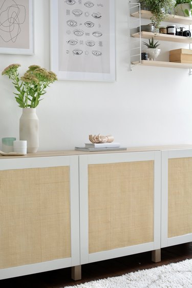 You Don't Need Power Tools to Do This Easy IKEA Hack Featuring Cane