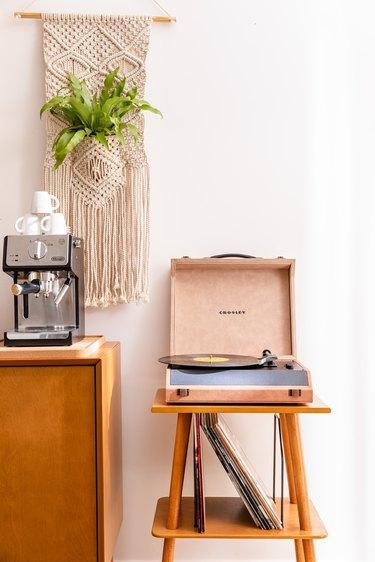 at home coffee setup