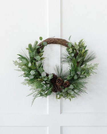 pine and eucalpytus wreath
