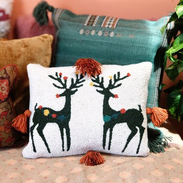 colorful pillows for Christmas decorations list