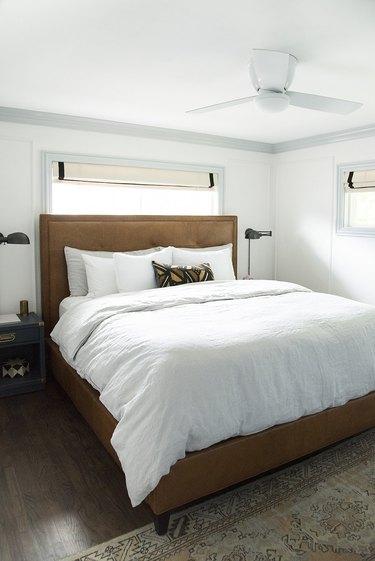 Roman shades bedroom window treatment ideas