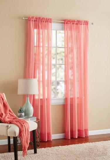Mainstays Marjorie Sheer Voile Curtain Panel, $4.97-$6.97