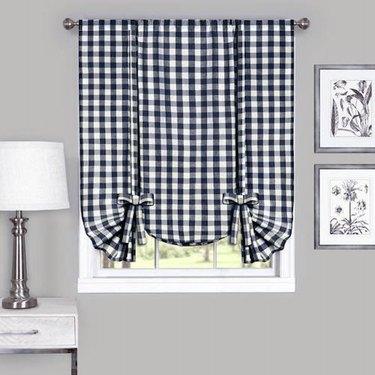 Achim Buffalo Check Window Curtain Tie Up Shade, $17.99