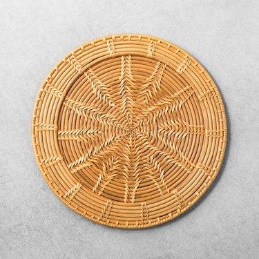 Rattan decorative tray