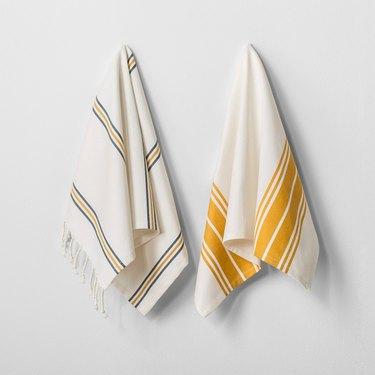 Gold kitchen towels