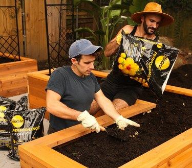 planting raised garden bed