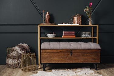 storage bench in living room