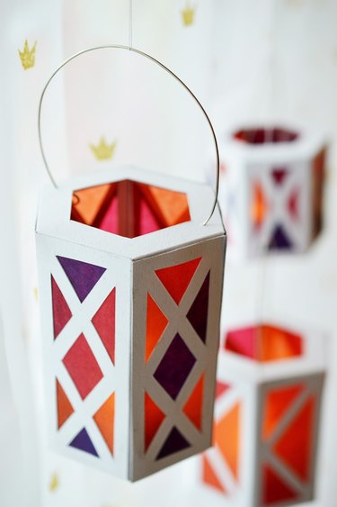 Colorful geometric lanterns