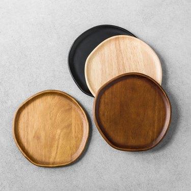 Wood appetizer plates