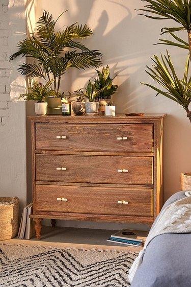 Boho three-drawer dresser