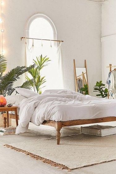 Boho platform bed